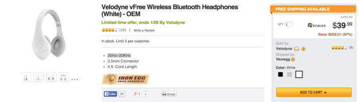 Velodyne vFree Bluetooth Wireless Stereo Headphones with Built-in Mic-sale-02