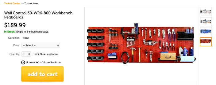 Wall Control 30-WRK-800 Workbench Pegboard (in multiple colors)-sale-01