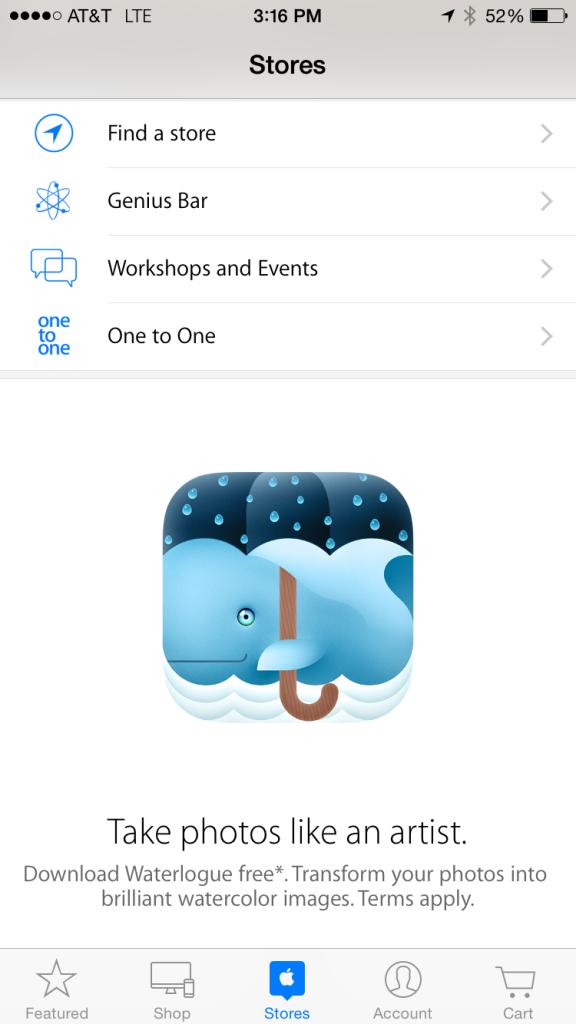 WAterlogue-Apple Store app