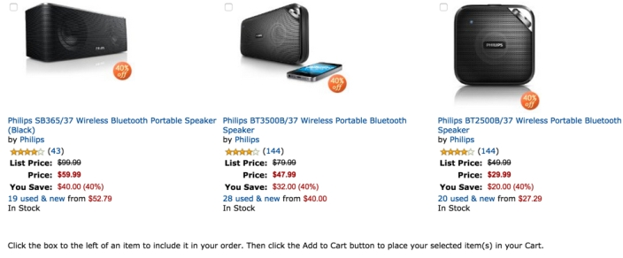40% on select top-rated portable Bluetooth speakers from Philips