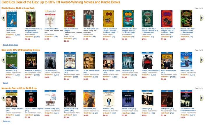 Amazon movies and kindle ebooks