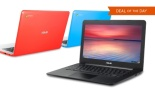 ASUS 13.3%22 Google Chromebook with a 16GB SSD, 2GB RAM, and Celeron Processor