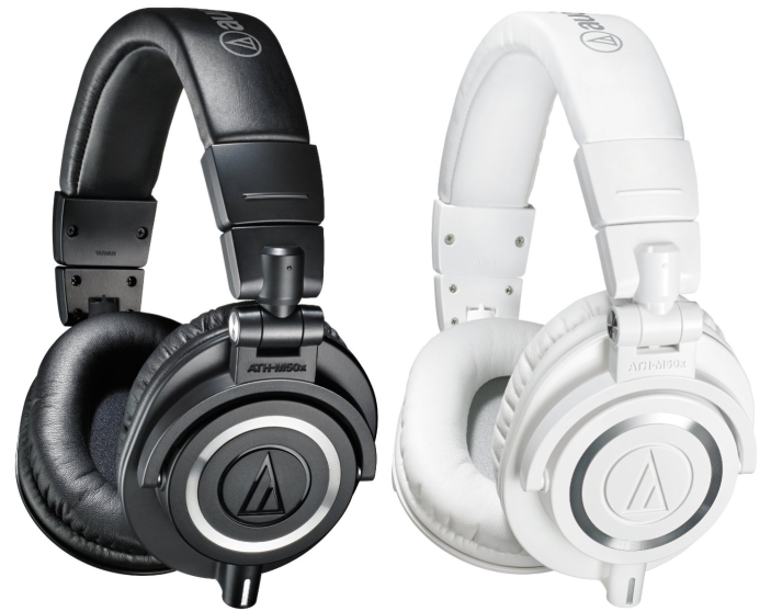 Audio-Technica ATH-M50xWH Professional Studio Monitor Headphones