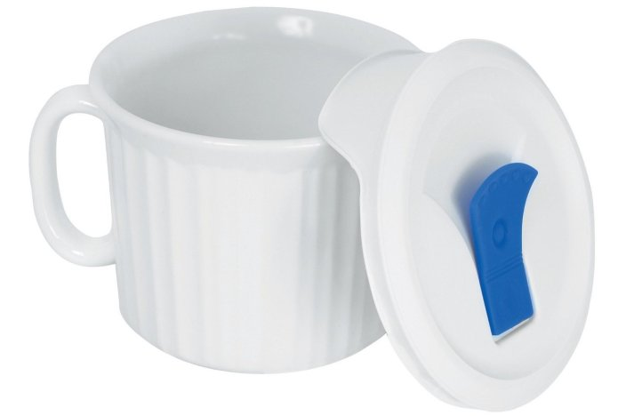 Corningware French White Pop-Ins 20-Ounce Mug with Blue Vented Plastic Cover-sale-01