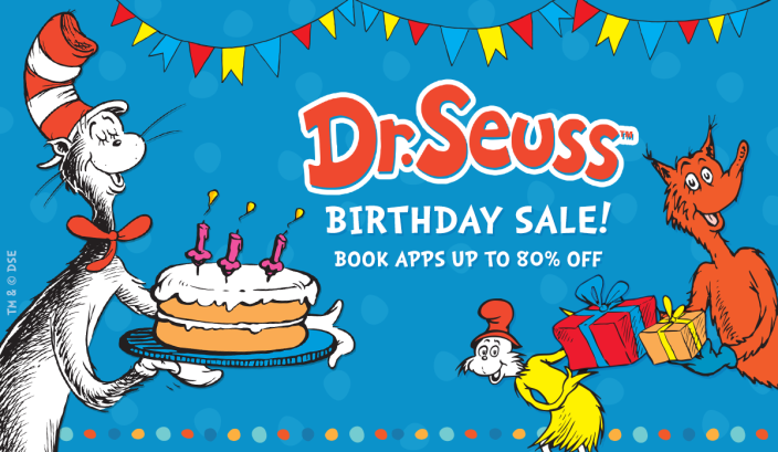Dr. Seuss Birthday Sale-Android-iOS-sale-books