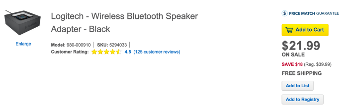 Logitech Bluetooth Audio Adapter-turn speakers into a wireless sound system-sale-01