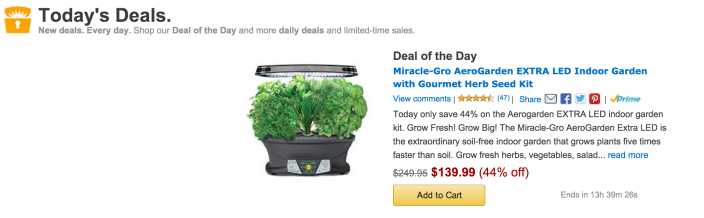 Miracle-Gro AeroGarden EXTRA LED Indoor Garden with Gourmet Herb Seed Kit-sale-02
