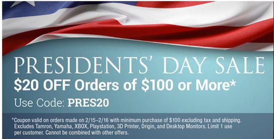 monoprice presidents day sale