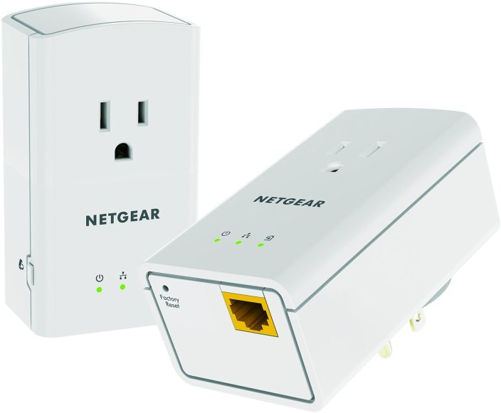 NETGEAR Powerline 500 1-Port Extra Outlet Essentials Edition Starter Kit-XAVB5421-sale-01