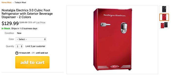 Nostalgia Electrics 3.0 Cubic Foot Refrigerator with Exterior Beverage Dispenser-sale-03