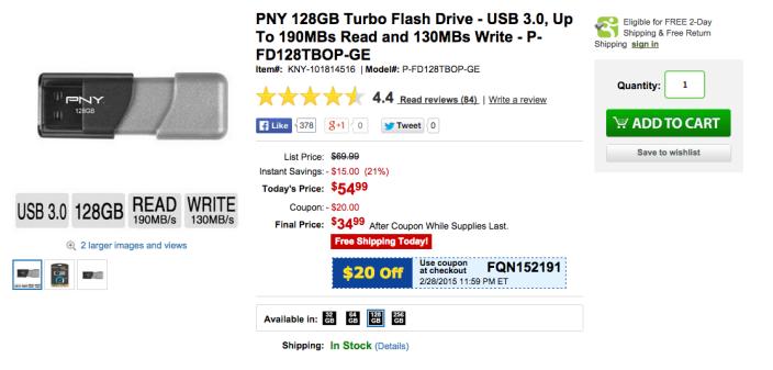 pny-128gb-flash-drive-tigerdirect-deal