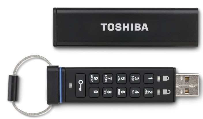 Toshiba Encrypted USB Flash Drive (PFU032D-1BEK)