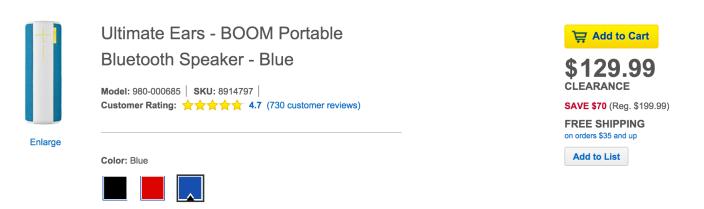 Ultimate Ears BOOM Wireless Bluetooth Speaker in blue-980-000685-sale-02