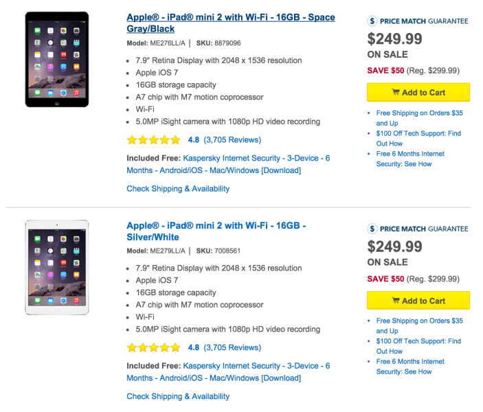 Apple iPad mini 2 16GB WiFi in silver or space gray-sale-01