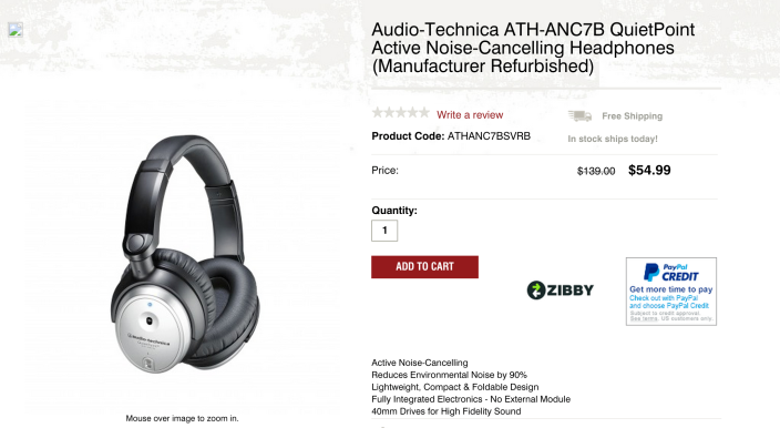 Audio-Technica ATH-ANC7B QuietPoint Active Noise-Cancelling Headphones-sale-02
