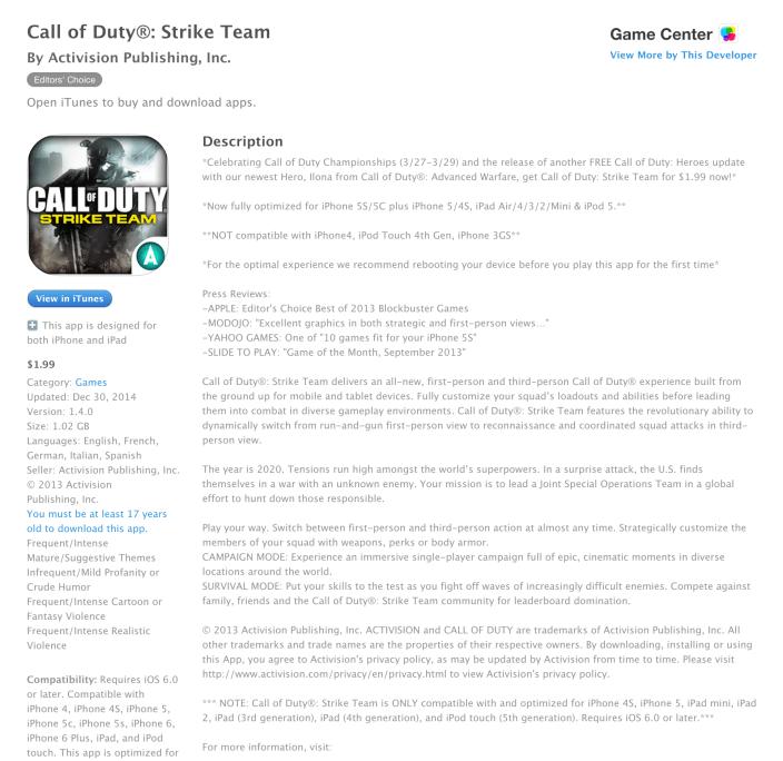 Call of Duty- Strike Team for iOS-sale-04