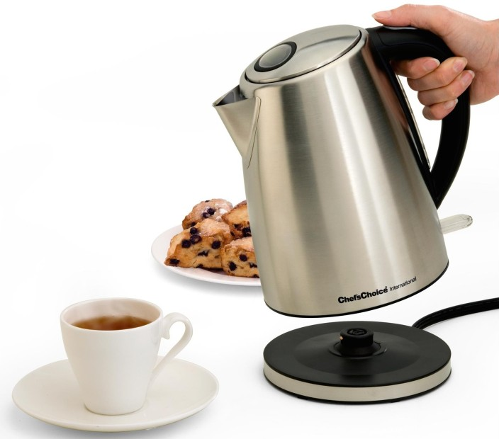Chef's Choice brushed stainless steel cordless electric kettle (681)-sale-02