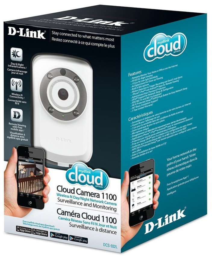 D-Link Cloud Wireless IP Camera, 640x480 Resolution, Night Vision, mydlink enabled