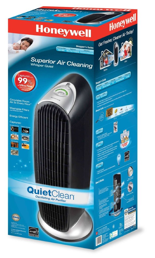 Honeywell Tower Quiet Air Purifier with Permanent IFD Filter in black (HFD-120-Q)-sale-01