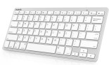 Inateck Apple Style Wireless Bluetooth Keyboard for Apple iPad Air 2: iPad Air, iPad Mini 3: Mini 2 : Mini, iPad 4 : 3 : 2, Galaxy Tabs, Note 3 2, Surface Pro 3, Smartphone, Android and Windows PC Tablet (White, BK1002)