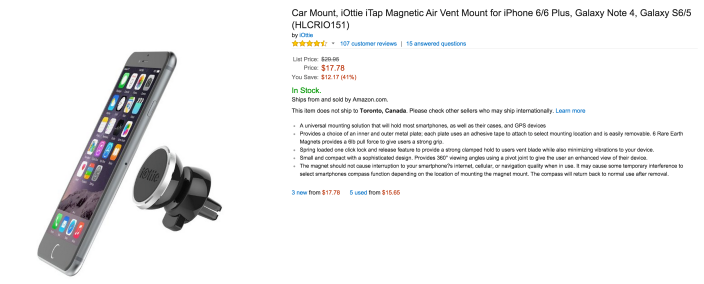 iOttie iTap Magnetic Air Vent Mount for iPhone 6:6 Plus-sale-02