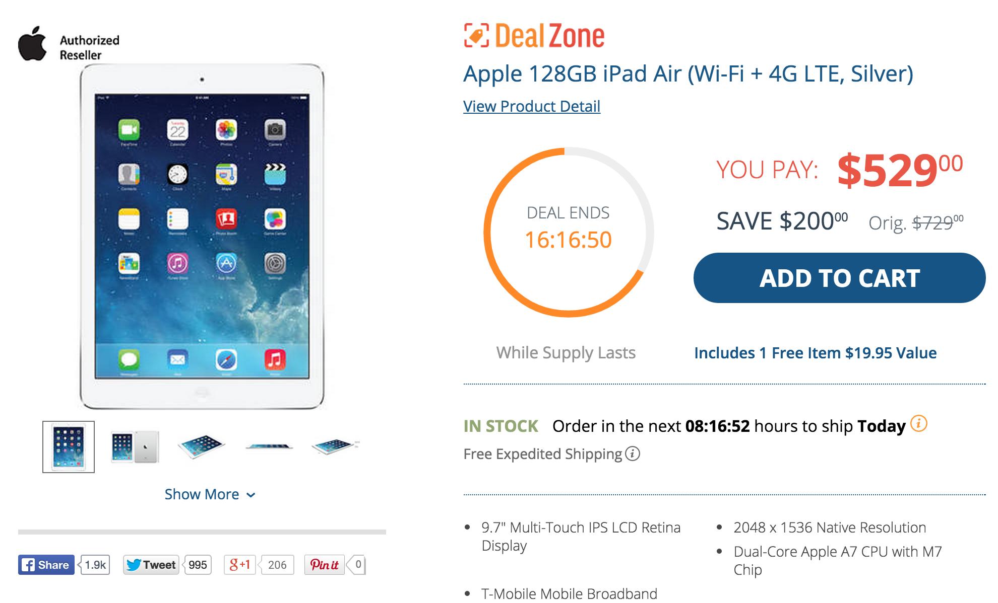 iPAd Air-128GB-LTE-Sale