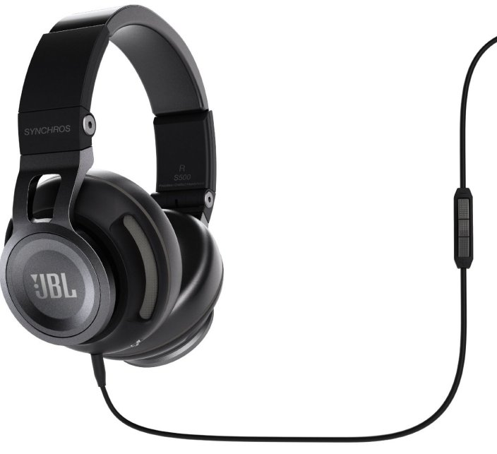 JBL Synchros S500 Powered Over-Ear Stereo Headphones, Black