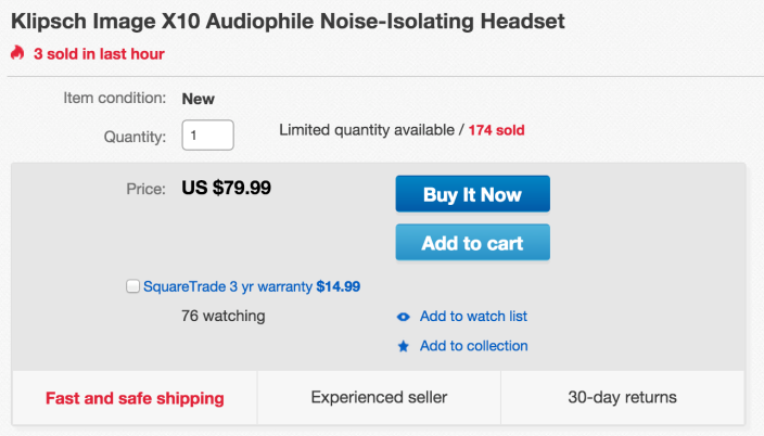 Klipsch Image X10 Noise-Isolating Earphones-sale-02