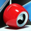 LuguLake Crystal Shaped Bluetooth Speaker Portable Mini Wireless Speaker With 3.5mm Audio Jack, Built in Mic Speaker system(Acrylic Red)
