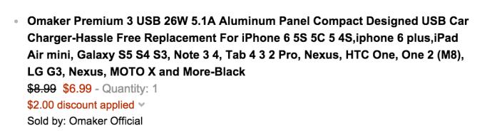 Omaker Premium 26W 5.1A Aluminum Panel Car Charger-sale-02