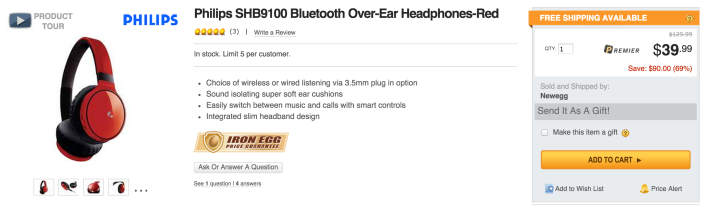 Philips SHB9100 Bluetooth Over-Ear Headphones-sale-03