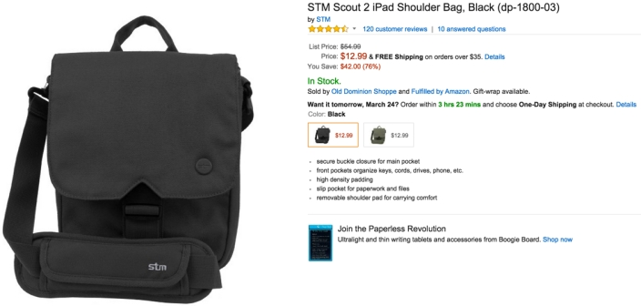 STM Scout 2 iPad Shoulder bag black