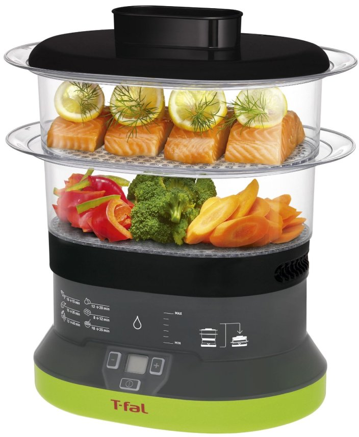 T-fal-VC1338 Balanced Living Compact 2-Tier Electric Food Steamer-sale-01