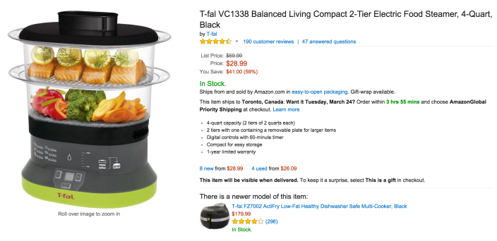 T-fal-VC1338 Balanced Living Compact 2-Tier Electric Food Steamer-sale-02