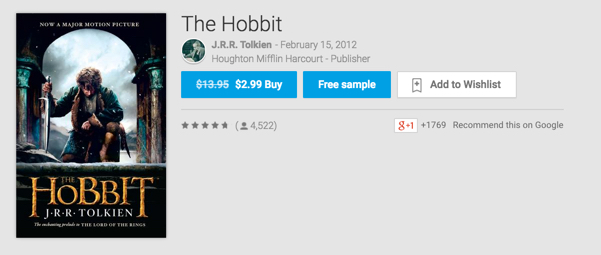 The Hobbit on Google Play