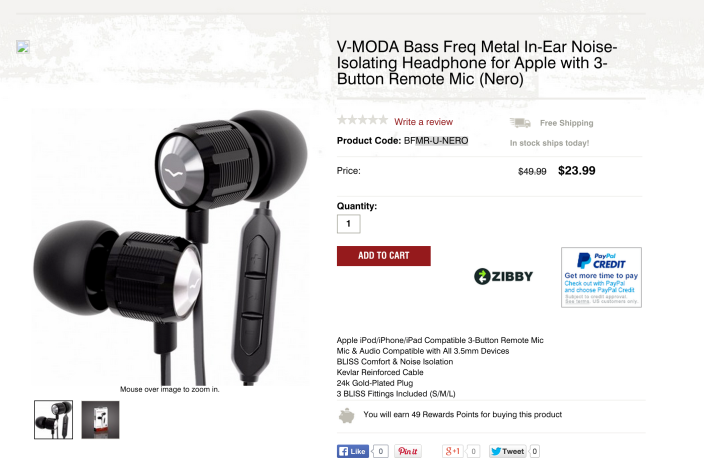V-MODA Bass Freq Metal In-Ear Noise-Isolating Headphones-sale-03