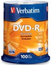 Verbatim 4.7 GB up to 16x Branded Recordable Disc DVD-R 100-Disc Spindle