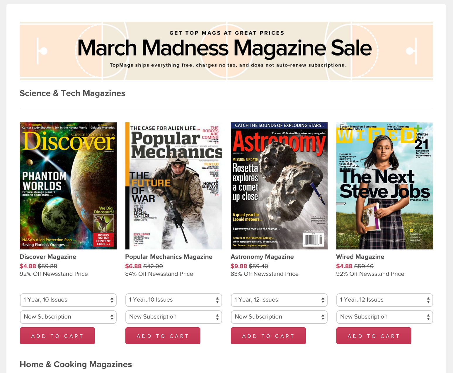 Magazine subs from $3.88/yr: Wired, GQ, ESPN, Maxim, Men\'s Fitness ...