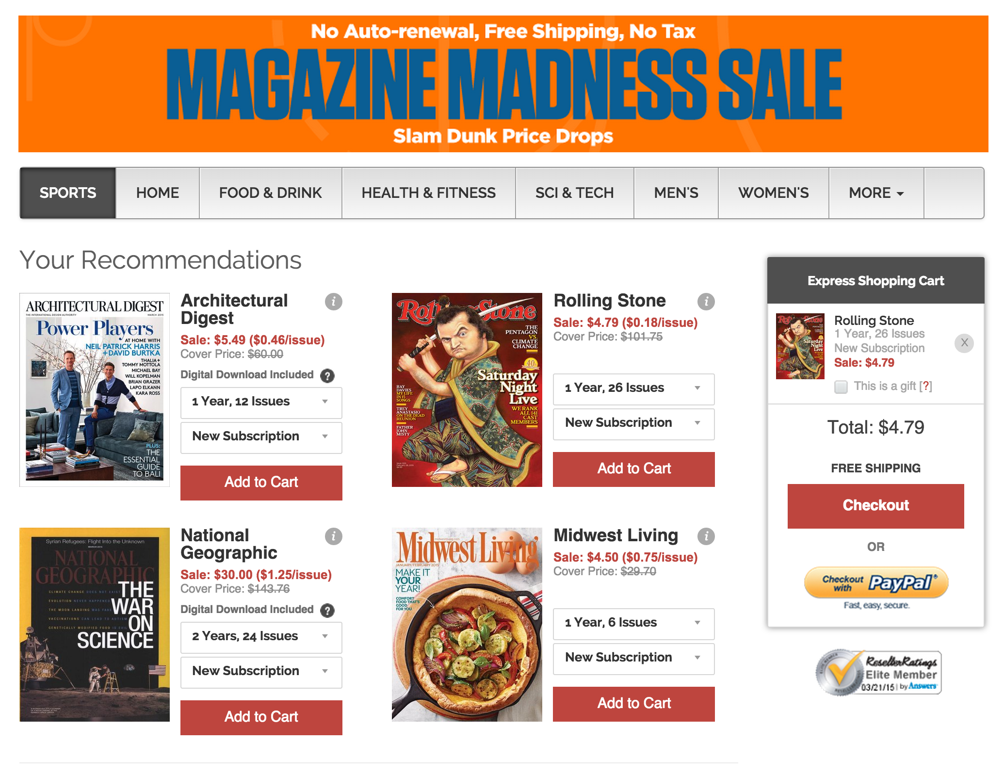 Magazine subs from $3.50/yr: Maxim, Wired, GQ, Rolling Stone ...