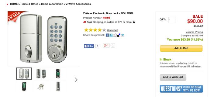 Z-Wave Electronic Door Lock-Monoproce-sale-02