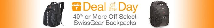 40% or More Off Select SwissGear Backpacks gold box