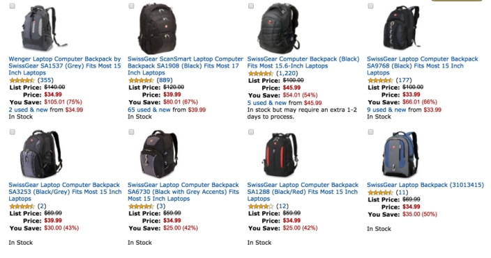 40% or More Off Select SwissGear Backpacks