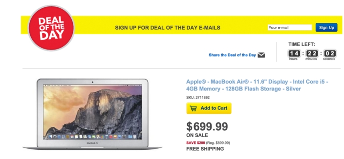 Apple® - MacBook Air® - 11.6%22 Display - Intel Core i5 - 4GB Memory - 128GB Flash Storage