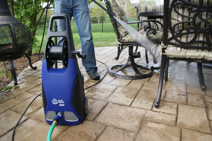 AR Blue Clean 14 Amp Electric Pressure Washer with Hose Reel (AR383)-sale-01