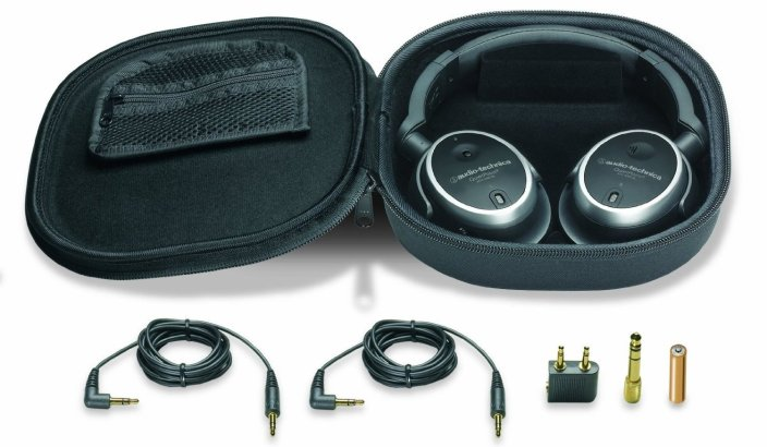 Audio-Technica QuietPoint Active Noise-Cancelling Closed-Back Headphones (ATH-ANC7B)-sale-01
