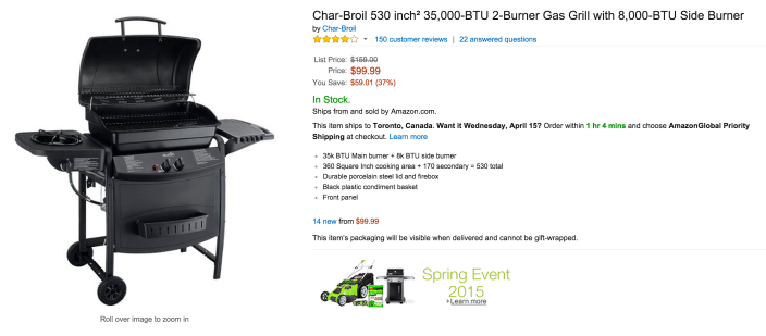 Char-Broil 35,000-BTU 2-Burner Gas Grill with Side Burner-sale-02