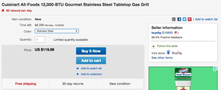 Cuisinart-CGG-200-grill-ebay-deal