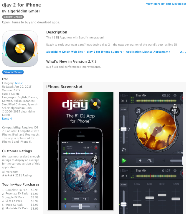 djay 2 for iPhone & iPad go free for the very first time