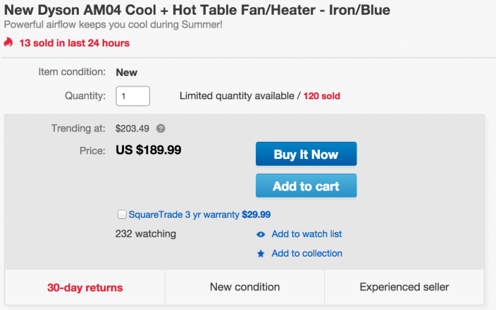 Dyson AM04 Cool + Hot Table Fan:Heater-sale-01