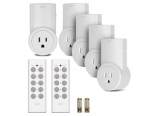 Etekcity BH9938U-5-2 5 Pack Self Learning Wireless Remote Control AC Electrical Power Outlet Switch with Two Remotes